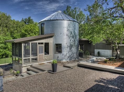 Modern design bedroom, grain bin silo homes inside grain