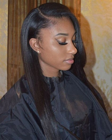 sew in hairstyles with side parts natural side part sew in w minimum leave out