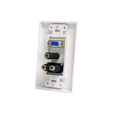Vga Wall Plate vga wall plate with 3 5mm and rca audio startech