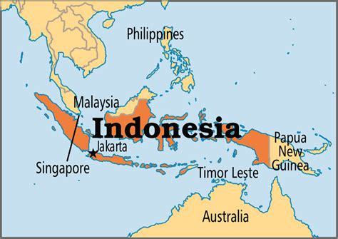 where is indonesia on the world map indonesia operation world