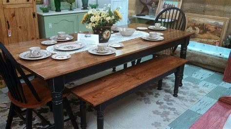 Farmhouse Kitchen Table With Bench Farm House Kitchen Table For Rustic Farm House Kitchen Style Home Furniture And Decor