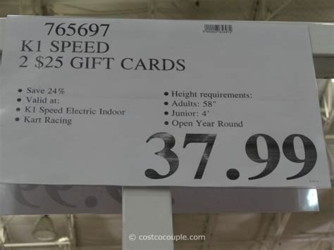Discounted Gift Cards At Costco - k1 speed discounted gift cards
