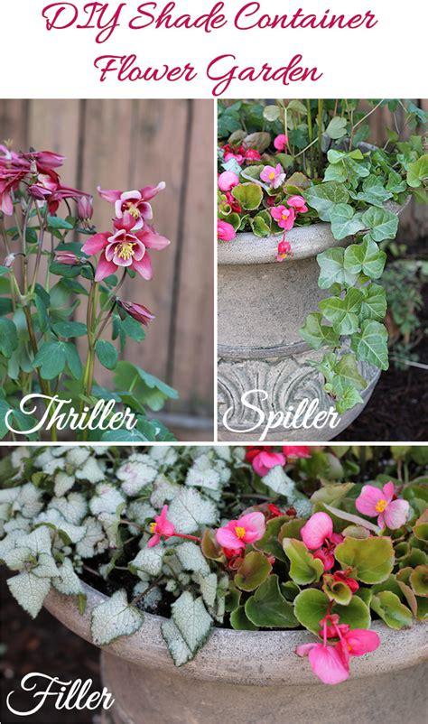 Diy Shade Container Flower Garden Digin Diy Flower Garden