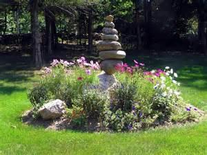 nice focal point cairn garden yard garden pinterest