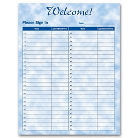business sign in sheet template business forms bright skies design patient sign in sheet