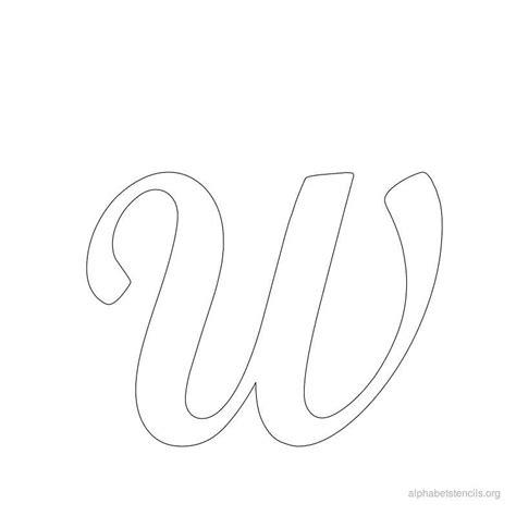 printable stencils letters script print free alphabet stencils cursive w stencils