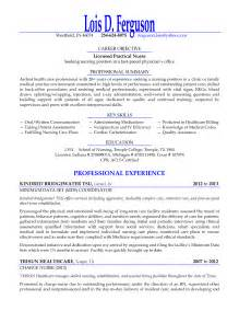 licensed practical seeking nursing position resume