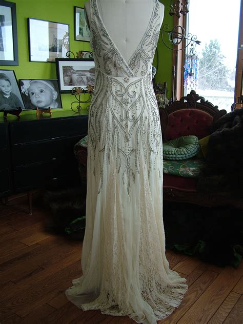 deco style wedding beaded deco vines 1920s style wedding dress tres