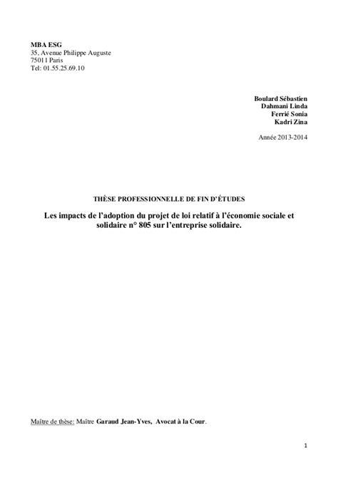Mba Esg Net by Les Impacts De L Adoption Du Projet De Loi Relatif 224 L