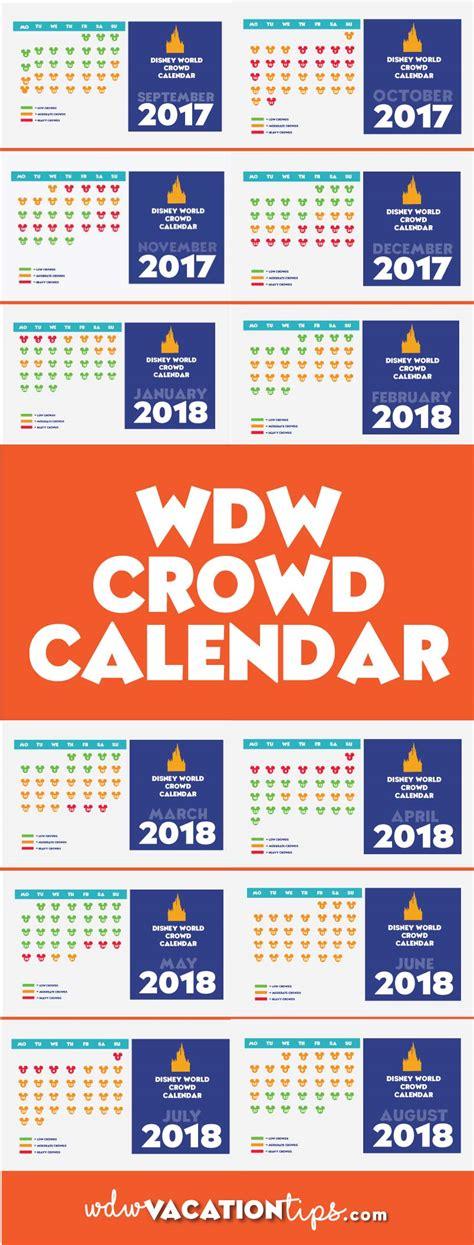 Disneyland Crowd Calendar Disney Crowd Calendar Wdw Vacation Tips