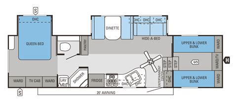 fifth wheel bunkhouse floor plans 2014 eagle fifth wheels 31 5fbhs jayco inc