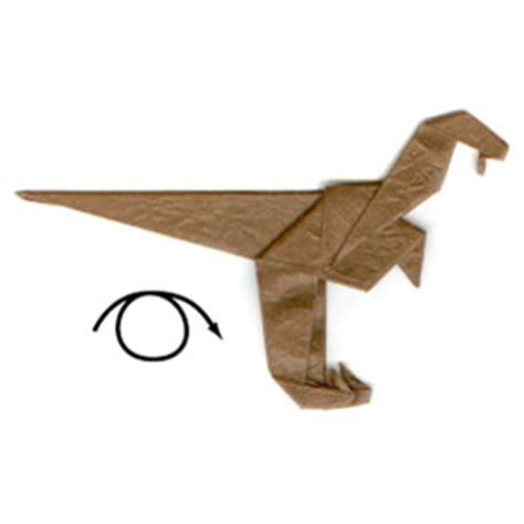 Origami Velociraptor - how to make a simple origami velociraptor page 11