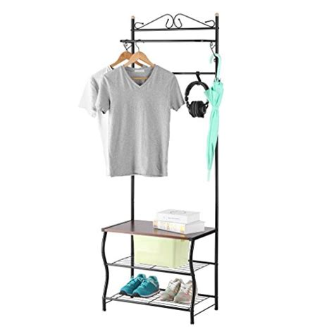bench coat rack combo lowest price langria entryway metal coat rack standing