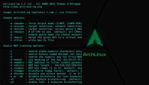 aircrack ng aircrack ng version 1 2 rc4 is a set of tools for
