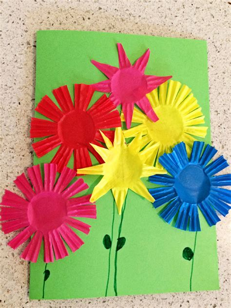how to make greeting card for summer bouquet greeting card craft skip to my lou