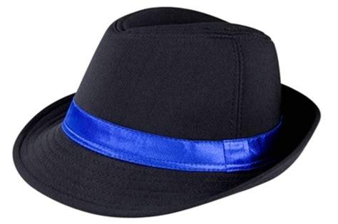 98220 fedora with blue satin band