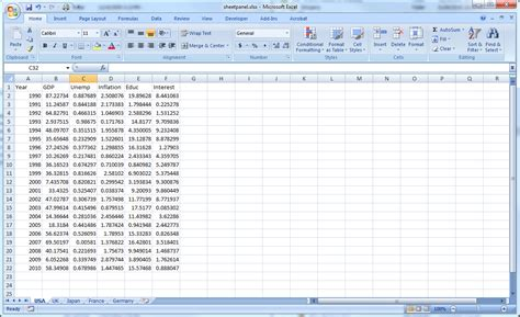 format of excel file how to enter data into a panel workfile eviews com