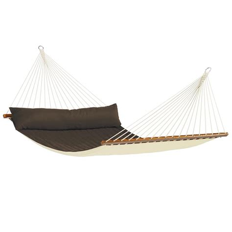 Spreader Bar Hammock la siesta alabama 2 person arabica brown weatherproof spreader bar hammock from westmount