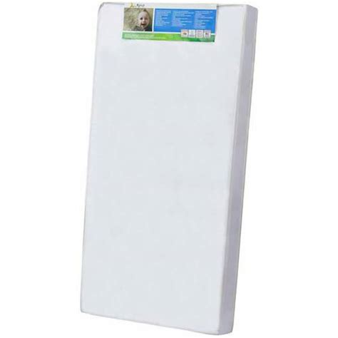Size Of Crib Mattress On Me 4 Quot Size Foam Standard Crib Toddler Mattress White Walmart