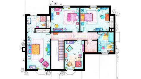 layout of monica s apartment an interior designer explains the unlikely apartments of