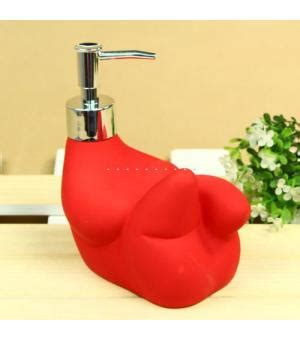 unique soap dispenser unique sculpture shape ceramic red soap dispenser xs 2014