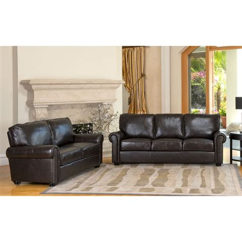 leather sofa and loveseat deals abbyson london premium top grain leather sofa and love