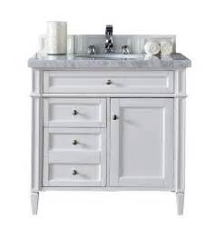 contemporary 36 inch single bathroom vanity white finish