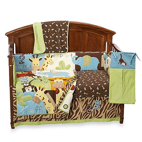 Zoo Crib Bedding Set By Mccarthy Zoo Zoo 5 Crib Bedding And Accessories 100 Cotton Bed Bath