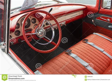 Upholstery Steering Wheel by 1955 Ford Dash And Interior Stock Photo Image 59880961