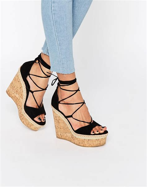 Sendal Wedges lace up wedge sandal 28 images joie phyllis suede lace