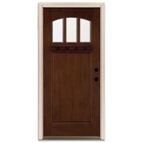 Prefinished Exterior Doors Steves Sons Craftsman 3 Lite Prefinished Mahogany Wood Prehung Front Door Discontinued