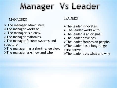Organzie by Manager Vs Leader