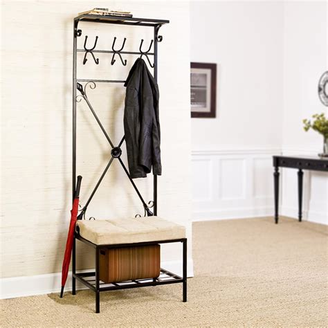 bench with storage and coat hooks entryway bench with storage and hooks coat stabbedinback