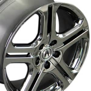 18 x7 5 acura black chrome tl wheels rims ebay