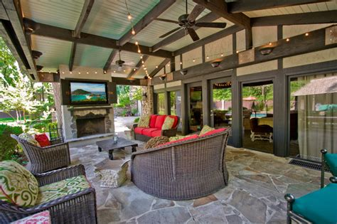 Decorating Ideas For Master Bathrooms by Outdoor Entertainment Area Traditional Patio Little