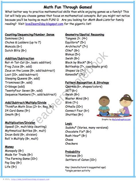 Parent Letter Explaining Common Math math list for teachers and parents from