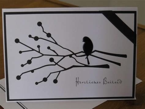Beschriftung Umschlag Trauerkarte by Handgemachte Karte Mit Umschlag Trauerkarte Beileid