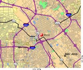 san jose ca map by zip code 95113 zip code san jose california profile homes