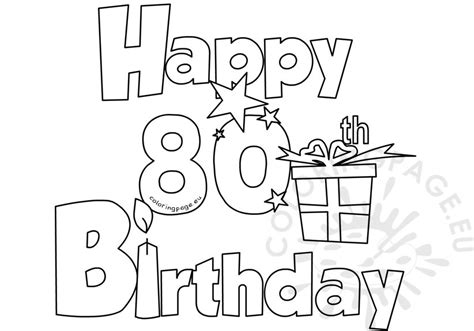 happy 80th birthday card template happy 80 birthday coloring card coloring page