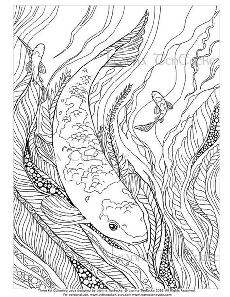 coloring pages of fish for adults adult colouring page fish animals koi underwater sea life