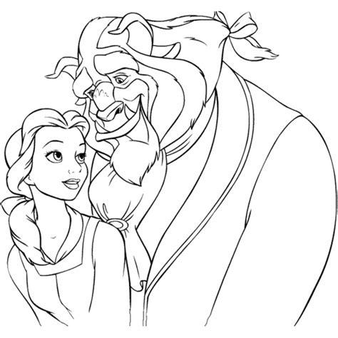 immagini di la e la bestia disegno di la e la bestia da colorare per bambini