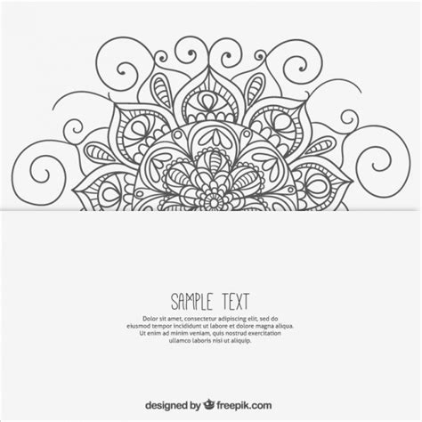 sketchy mandala background vector free download
