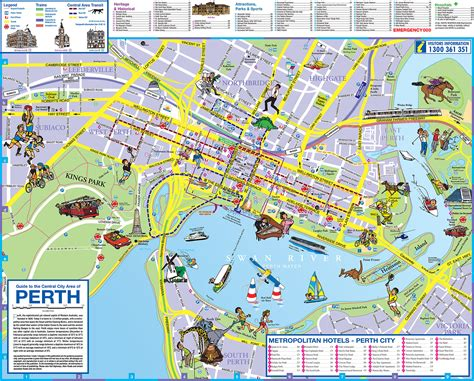 printable map perth city infos australie maps australieworking holiday visa partir