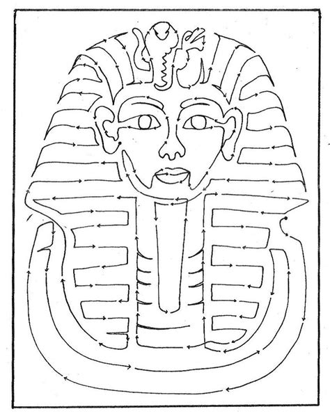 King Tut Mask Template by King Tut Coloring Page Home Sketch Coloring Page
