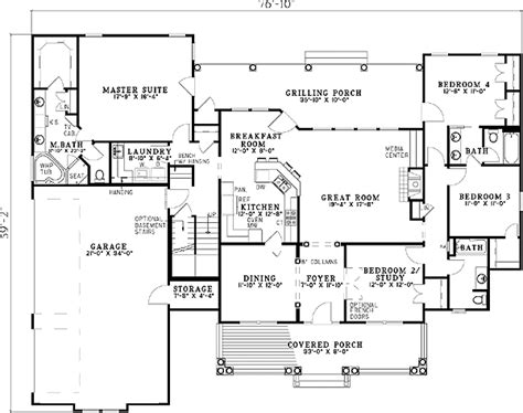 split bedroom house plans spectacular split bedroom house plan 59377nd 1st floor master suite bonus room cad