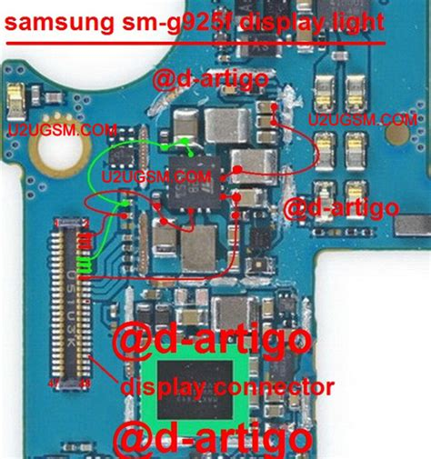 edge lighting not working samsung galaxy s6 edge lcd display light ic solution