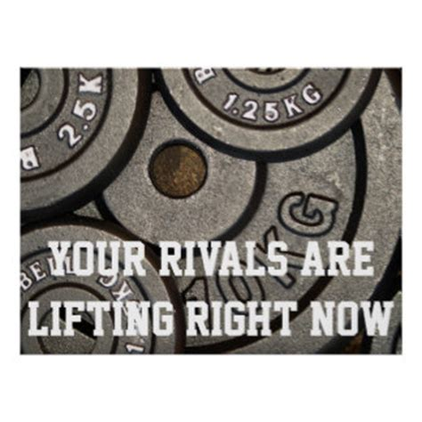 Weight Room Motivational Posters weight room posters zazzle