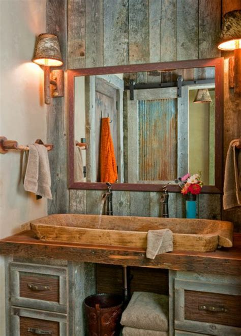 diy badezimmerspiegel ideen 23 fantastische rustikale badezimmer design ideen