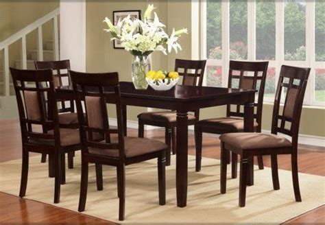 Wood Dining Table And 6 Chairs Dining Table Set Cherry Solid Wood Modern Furniture 6 Chairs 7pc Vintage Style Ebay