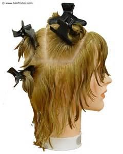 salon 7 pembagian rambut a sectionong parting untuk